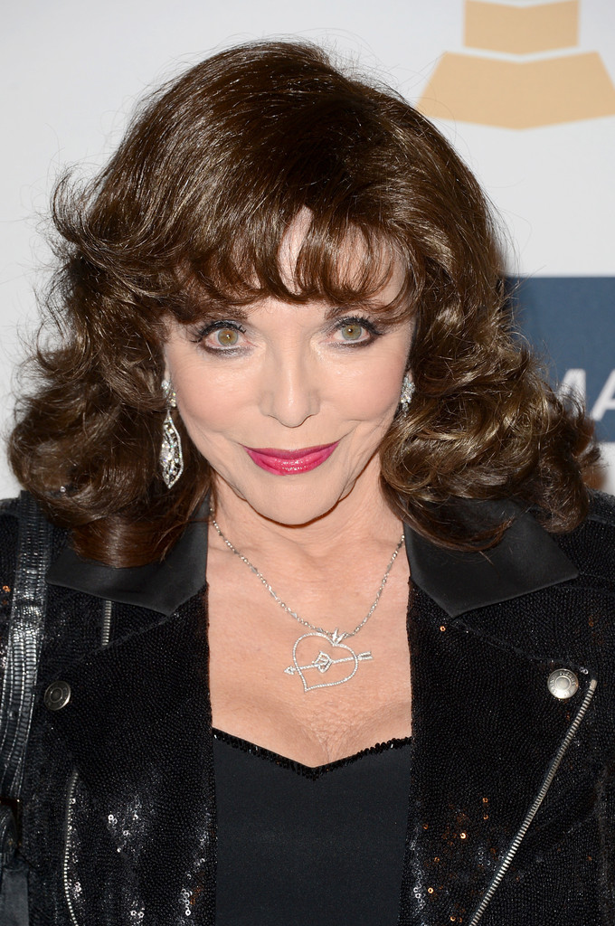 Joan Collins Medium Curls With Bangs Medium Curls With