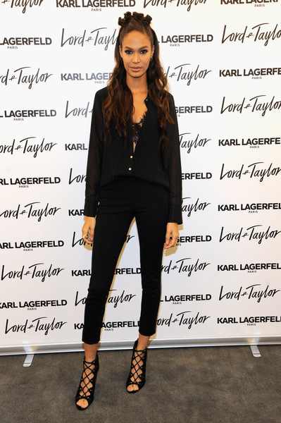 Joan Smalls Lace-Up Heels
