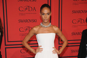 Joan Smalls Strapless Dress