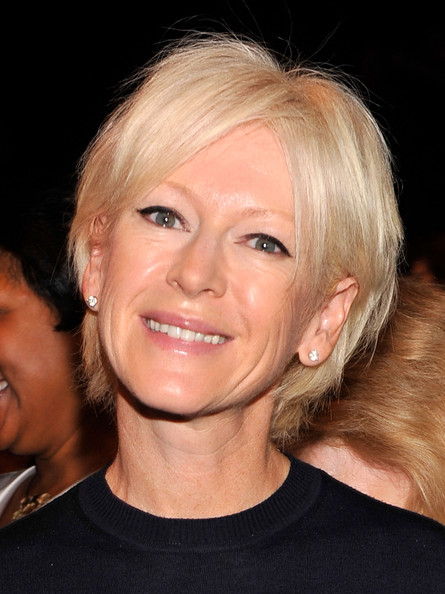 Joanna Coles Layered Razor Cut [project runway,project runway spring 2013,hair,face,hairstyle,blond,eyebrow,chin,head,lip,nose,cheek,editor-in-chief,joanna coles,front row,lincoln center,new york city,cosmopolitan,mercedes-benz fashion week,fashion show]