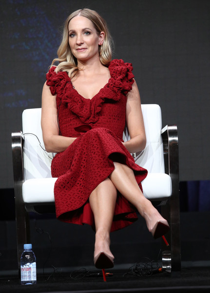 Joanne Froggatt Cocktail Dress [fashion model,clothing,red,leg,dress,beauty,sitting,fashion,cocktail dress,footwear,joanne froggatt of liar,beverly hills,california,the beverly hilton hotel,tca,sundancetv,portion,summer television critics association press tour]