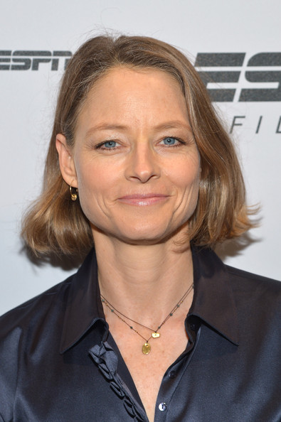 Jodie Foster Bob [big shot,hair,hairstyle,blond,chin,long hair,layered hair,brown hair,surfer hair,white-collar worker,jodie foster,new york city,espn sports film festival gala,party,tribeca film festival,party]
