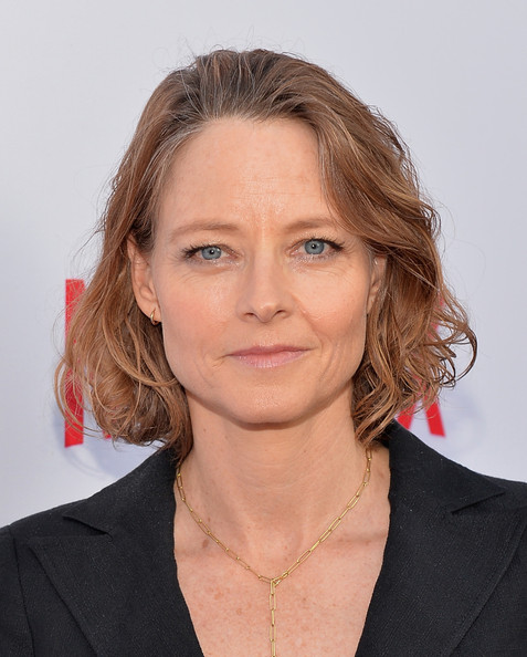 Jodie Foster Short Wavy Cut [red carpet,hair,face,hairstyle,chin,eyebrow,forehead,lip,blond,layered hair,long hair,jodie foster,north hollywood,california,leonard h. goldenson theatre,netflix,academy panel ``women ruling tv,academy panel women ruling tv]
