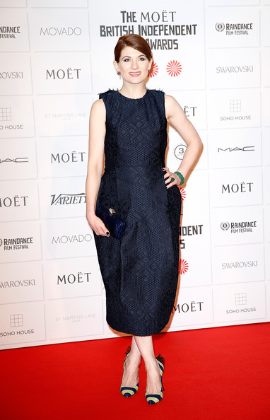 Jodie Whittaker Leather Clutch
