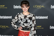 Joey King Print Blouse