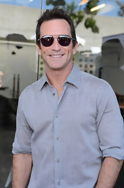 Jeff Probst opted for classic aviator shades while attending the John Varvatos Stuart House Benefit.