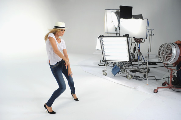 Heidi+Klum in Jordache Jeans Commercial Featuring Heidi Klum -- Behind The Scenes