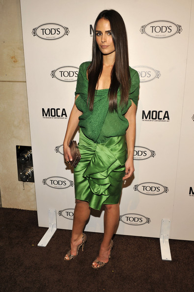 Jordana Brewster Leather Clutch