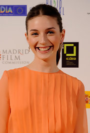 Maria Valverde wore her hair in a center part and pulled back in a ponytail for the Jose Maria Forque Awards.