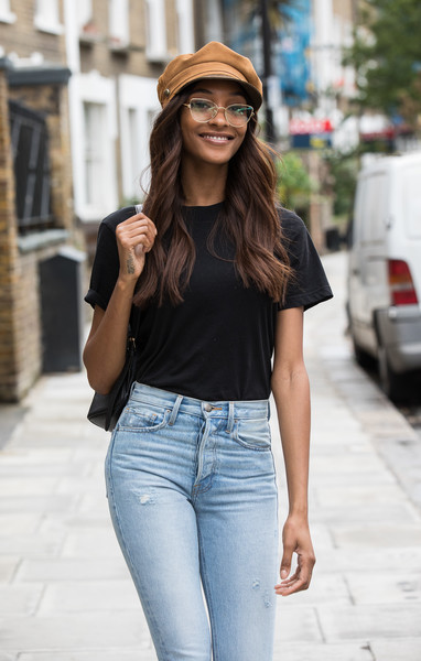 More Pics of Jourdan Dunn Newsboy Cap (3 of 10) - Jourdan Dunn Lookbook - StyleBistro