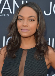 Lyndie Greenwood styled her hair with curly ends for the Jovani LA flagship opening.