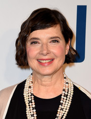 Isabella Rossellini styled her short locks with vintage-style waves for the New York premiere of 'Joy.'