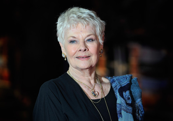 Judi Dench Heart Pendant [face,lady,portrait,human,photography,portrait photography,electric blue,official,smile,flash photography,the best exotic marigold hotel,england,london,best exotic marigold hotel - world premiere,the curzon mayfair,judi dench]
