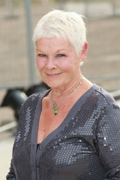 Judi Dench Pixie [hair,lady,blond,hairstyle,smile,photography,arrivals,judi dench,the old vic theatre,england,london,battersea power station,vic theatres trust,summer fundraising party]