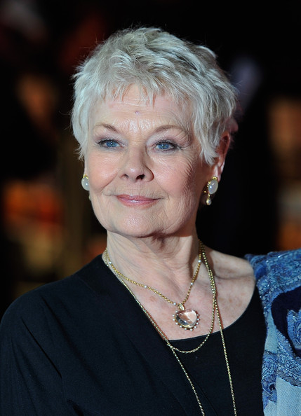 Judi Dench Pixie [hair,face,lady,hairstyle,blond,official,smile,the best exotic marigold hotel,england,london,best exotic marigold hotel - world premiere,the curzon mayfair,judi dench]