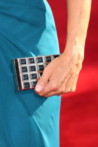 Julia Louis-Dreyfus Box Clutch [picture,finger,hand,nail,technology,thumb,electronic device,gesture,guitar,wrist,arrivals,julia louis-dreyfus,primetime emmy awards,purse,california,los angeles,nokia theatre,61st primetime emmy awards]
