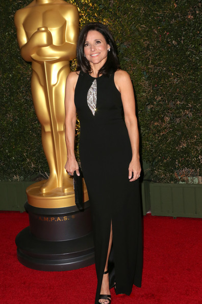 Julia Louis-Dreyfus Evening Dress [flooring,carpet,lady,red carpet,dress,little black dress,arrivals,julia louis-dreyfus,governors awards,hollywood highland center,california,the ray dolby ballroom,academy of motion picture arts and sciences,academy of motion picture arts and sciences governors awards]