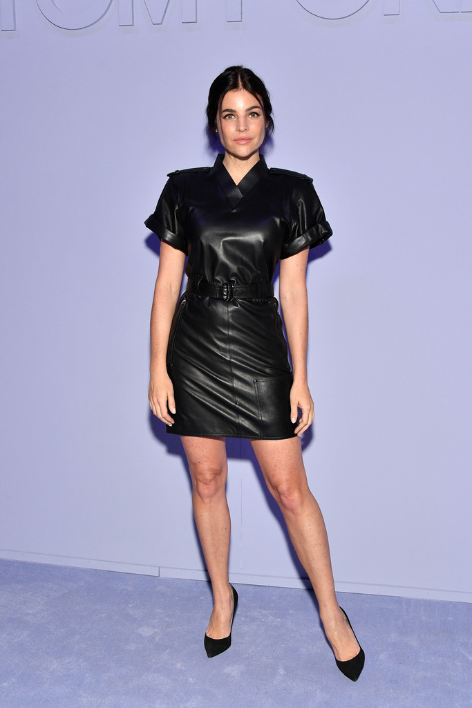 Julia Restoin Roitfeld Leather Dress Leather Dress