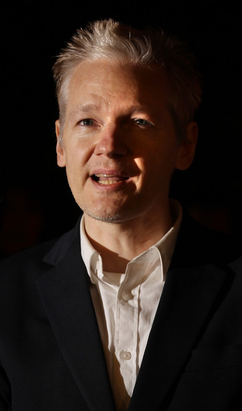 Julian Assange Spiked Hair