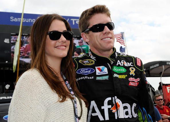 Julie Gonzalo Wayfarer Sunglasses [eyewear,sunglasses,vehicle,car,racing,motorsport,julie gonzalo,carl edwards,r,grid,texas motor speedway,texas,fort worth,l,aflac ford,aaa texas 500]