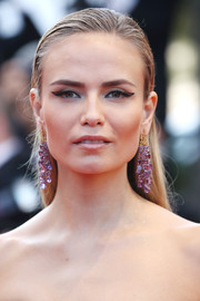 Natasha Poly attended the Cannes premiere of 'Julieta' sporting a slicked-down, straight 'do.
