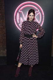 Camilla Belle donned a geometric-print midi dress for the Jump Into Spring: MICHAEL Michael Kors launch party.