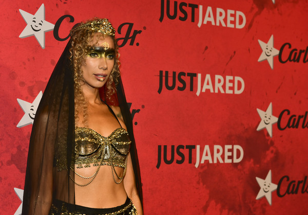 More Pics of Leona Lewis Long Skirt (1 of 4) - Leona Lewis Lookbook - StyleBistro [red,event,abdomen,trunk,long hair,belly dance,carpet,jared,leona lewis,los angeles,california,halloween party,just jared,goya studios,annual halloween party]