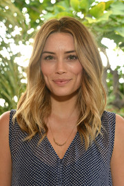 Arielle Vandenberg attended the KEEP Collective Accessories social wearing her hair in beach-glam waves.