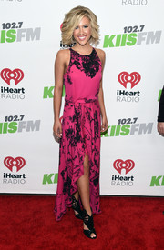 Savannah Chrisley styled her frock with black cutout booties.
