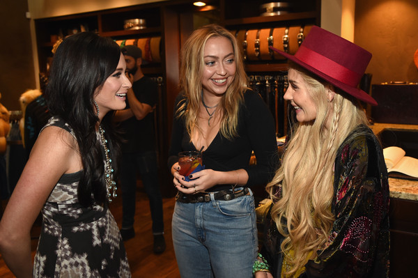 More Pics of Kacey Musgraves Print Dress (10 of 20) - Kacey Musgraves Lookbook - StyleBistro [event,fashion,party,pub,fun,bar,drink,nightclub,kacey musgraves,brandi cyrus,clare bowen,nashville,tennessee,lucchese,kacey for lucchese collection launch event]