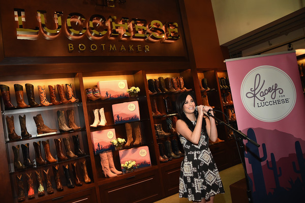 More Pics of Kacey Musgraves Print Dress (7 of 20) - Kacey Musgraves Lookbook - StyleBistro [kacey musgraves,nashville,tennessee,lucchese,kacey for lucchese collection launch event]
