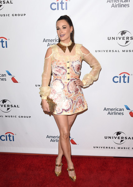 Kacey Musgraves Beaded Clutch [clothing,cocktail dress,fashion model,dress,red carpet,fashion,shoulder,footwear,leg,carpet,kacey musgraves,grammy,the theatre at the ace hotel,california,los angeles,universal music group,party,arrivals,party]