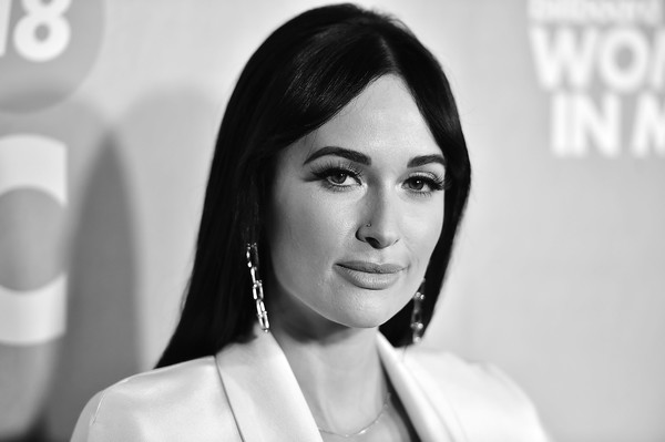 Kacey Musgraves Dangling Chain Earrings [billboard,hair,face,photograph,eyebrow,skin,lip,beauty,black-and-white,hairstyle,smile,pier 36,new york city,13th annual women in music event,kacey musgraves]