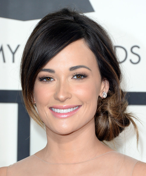 Kacey Musgraves Chignon [hair,face,eyebrow,hairstyle,chin,skin,lip,forehead,beauty,shoulder,arrivals,kacey musgraves,56th grammy awards,staples center,los angeles,california]