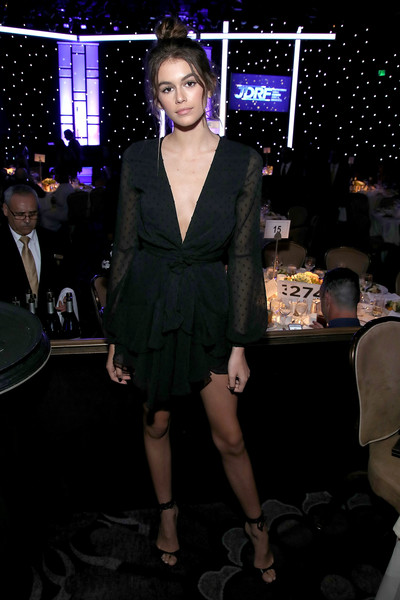 Kaia Gerber Little Black Dress
