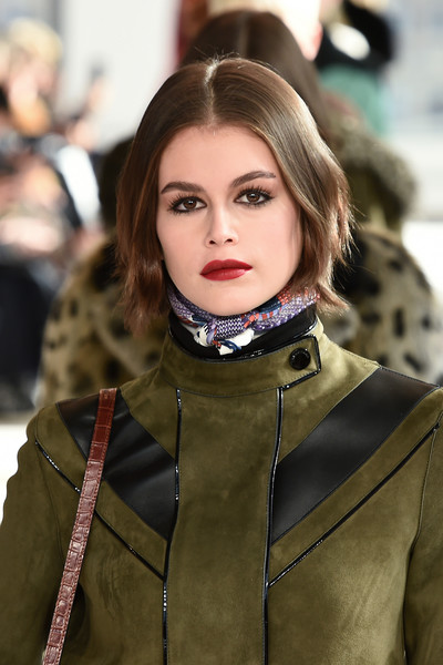 Kaia Gerber Red Lipstick [hair,face,street fashion,fashion,lip,hairstyle,beauty,lady,blond,eye,accessories,kaia gerber,details,hudson commons,runway,new york city,longchamp fw20 runway show,show,kaia jordan gerber,new york,new york fashion week,fashion week,fashion,model,fashion show,runway,ready-to-wear]
