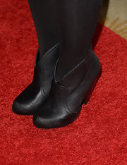 Renee Felice Smith chose black ankle booties to top off her red carpet look at the Kaleidoscope Ball in Beverly Hills.