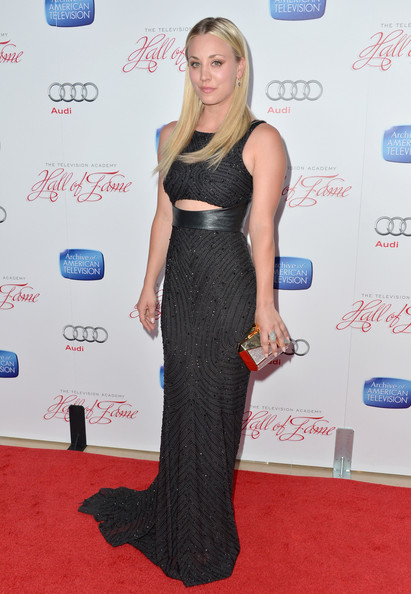Kaley Cuoco Beaded Dress