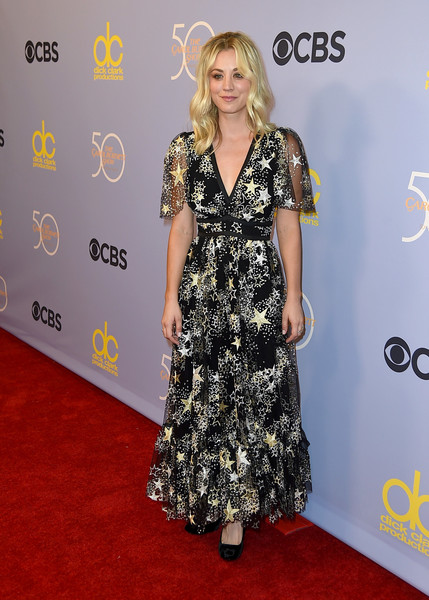 Kaley Cuoco Embroidered Dress