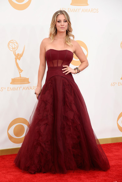 Kaley Cuoco Strapless Dress