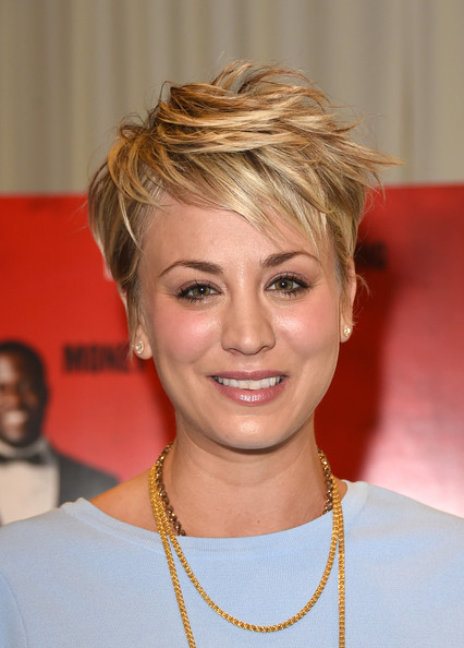 Kaley Cuoco Messy Cut