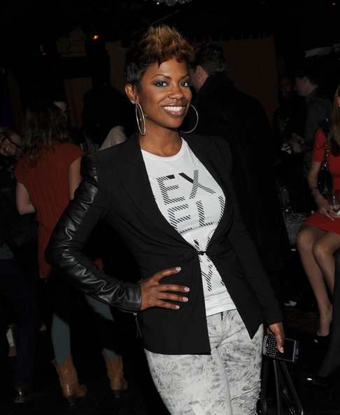 Kandi Burruss Sterling Hoops