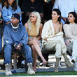 Tyga, Kylie Jenner, Kendall Jenner and  Kim Kardashian at Yeezy Season 4