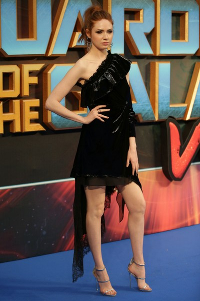 Karen Gillan One Shoulder Dress