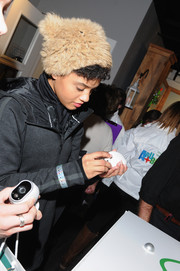 Kiersey Clemons showed off her cute winter style with a fur hat at the Sundance Film Festival.