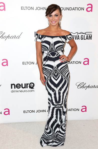 Karina Smirnoff Off-the-Shoulder Dress