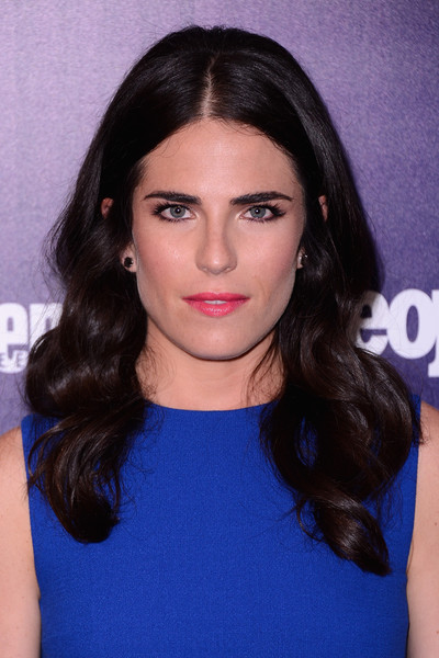 Karla Souza Long Curls [hair,face,eyebrow,hairstyle,lip,black hair,chin,beauty,long hair,head,arrivals,people,karla souza,upfronts,new york city,the highline hotel,entertainment weekly,the new york,celebration]