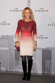 Beba Longoria was hippie-chic in an ombre sweater dress during the Coach boutique opening in Madrid.