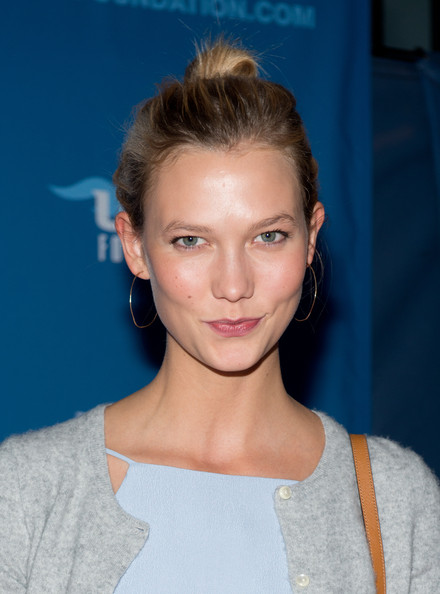 Karlie Kloss Gold Hoops