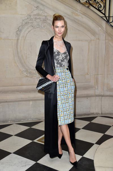 Karlie Kloss Evening Coat